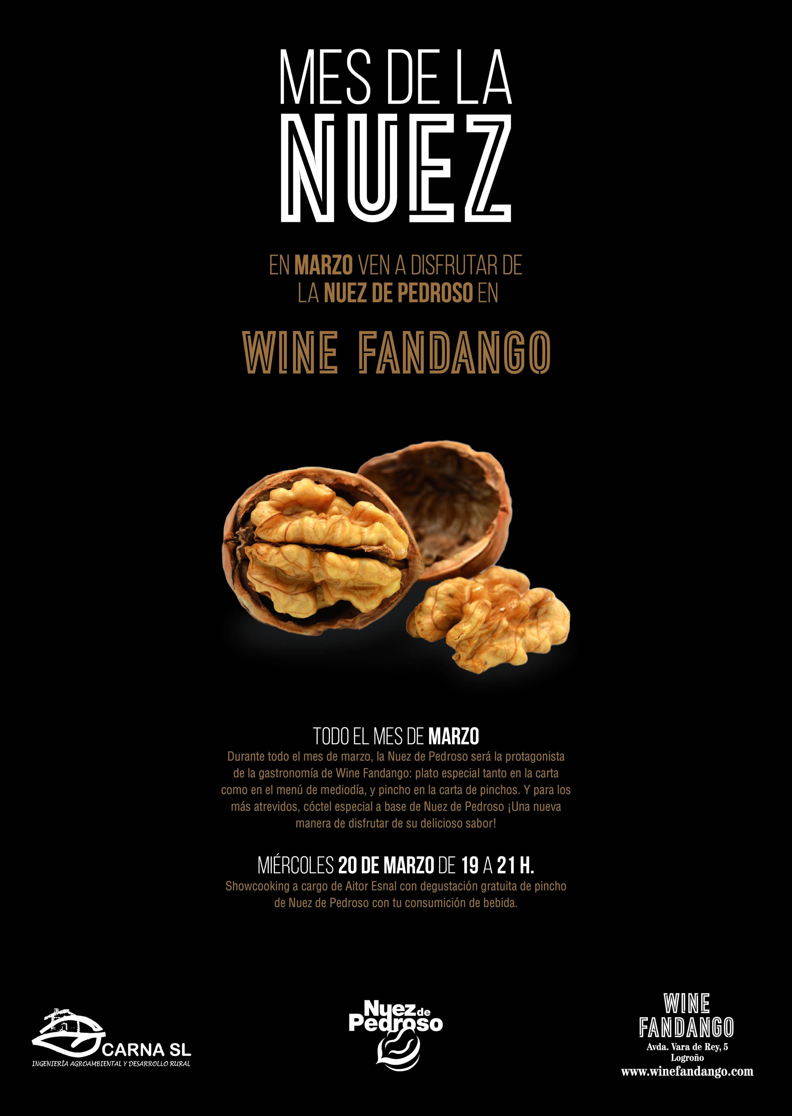 Mes de la Nuez en Wine Fandango