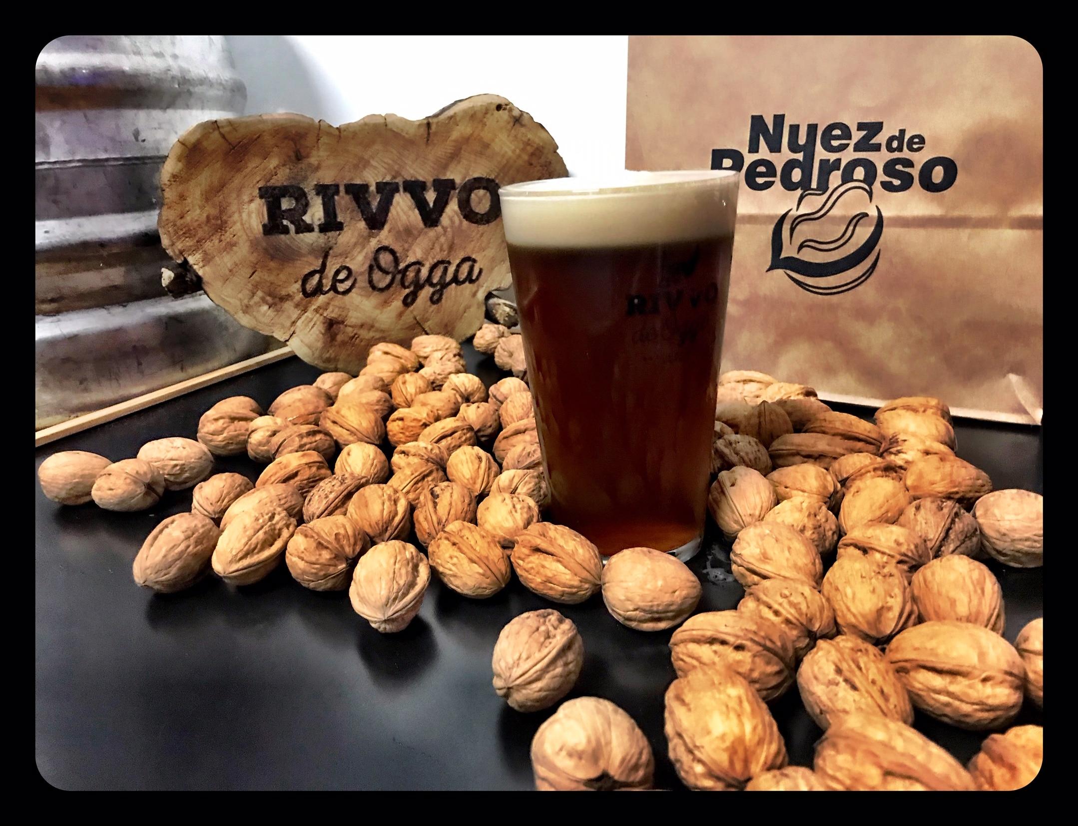 Cerveza artesana con Nuez de Pedroso